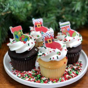 Cupcakes–Christmas Themed